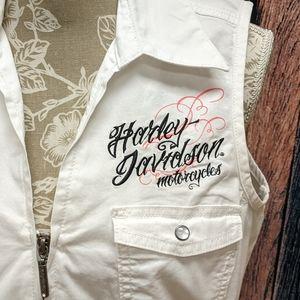 Sleeveless Zip Front Harley Top